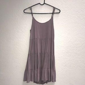 Boutique gray dress with open back